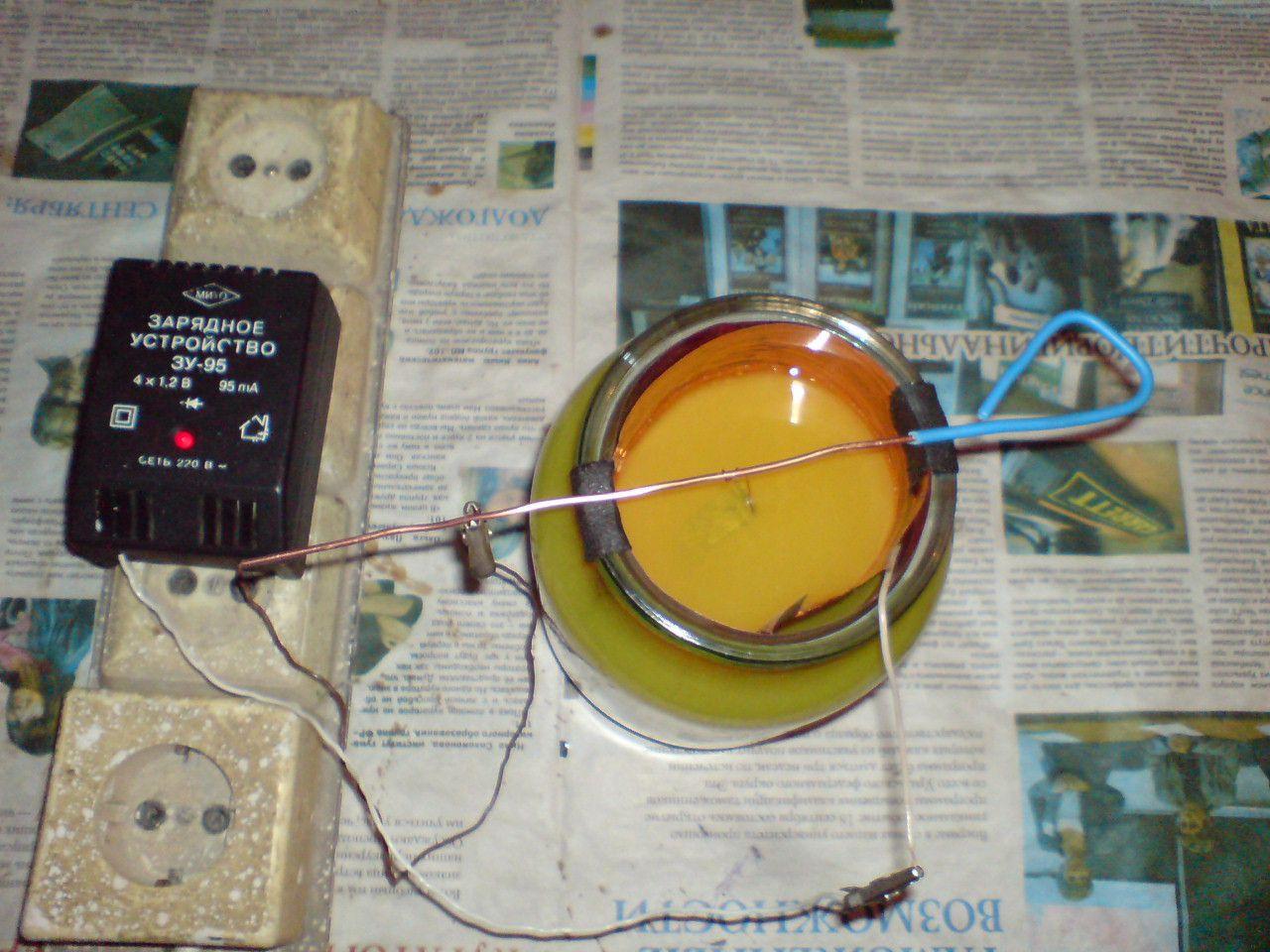 Как сделать электролит для серебрения